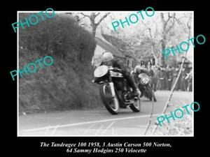 OLD-HISTORIC-MOTORCYCLE-PHOTO-OF-AUSTIN-CARSON-amp-HIS-NORTON-500-1958-TANDRAGEE