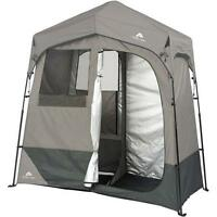 Tent Canopy Solar Heated Shower Awning 2-room Changing Outdoor Shelter Camping