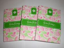 """SET OF 3 LILLY PULITZER NOTEPADS W/PENCIL  NEW 4.5""""Lx3 1/8""""W EACH PAD 51CT NEW"""
