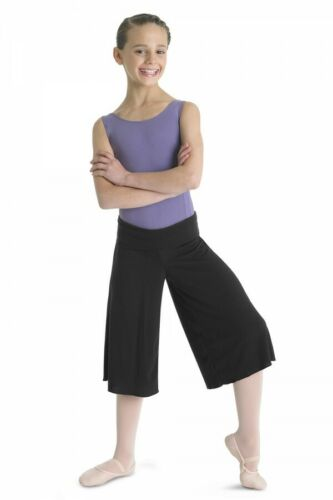 12-14yrs Bloch Girls Black Dance Culottes CR9014