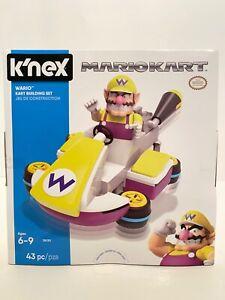 K'NEX Super Mario Kart Nintendo WARIO Kart 43 pc Building Set New F1