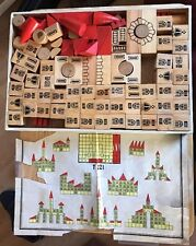 Vintage West Germany Heros castle wood building blocks set ? 100 Pieces Toy