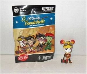 DC Comics Lil Bombshells Backpack Clips Figures Harley Quinn