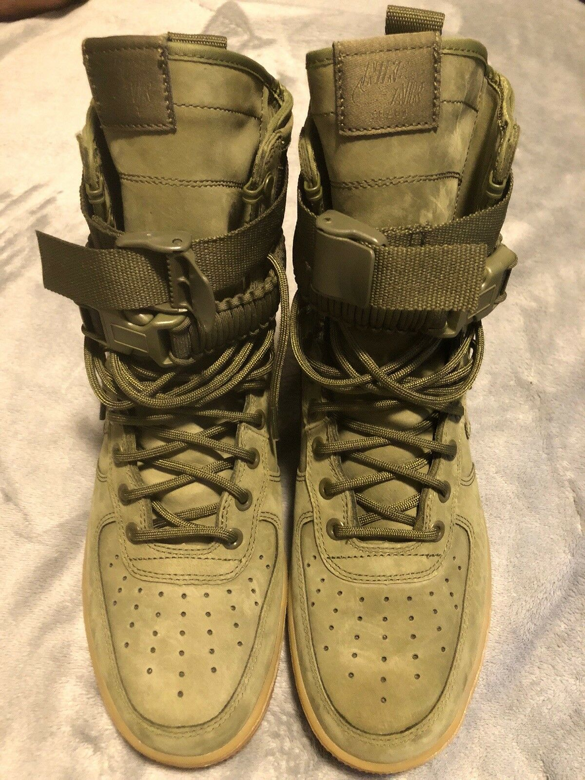 Nike AF1 SF FADED OLIVE Air Force One Special Field Mens Size 9 100%AUTHENTIC