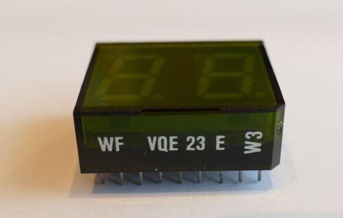 2-stellig RFT 7 Segment Anzeige WF VQE 23 E grün unbenutzt