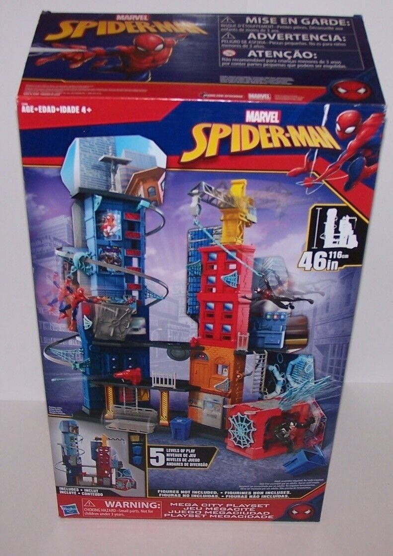 Marvel Spider-Man 46  Tower 5 Levels Of Play Time Fun NIB