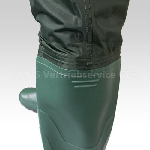 Wathose Anglerhose Angelhose Watstiefel Watthose PVC//Gummi Teichhose mit Stiefel