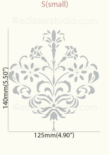 Floral Stencil Vintage French Ornament Paint Furniture Card making Crafts FL137