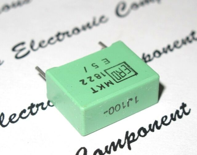 0,047µF 47nF ERO 2pcs-Roederstein 100V 1/% p:5mm Capacitor MKP1837 0.047uF