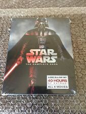 STAR WARS THE COMPLETE SAGA 1,2,3,4,5,6 (9 BLU-RAY Discs Box Set)