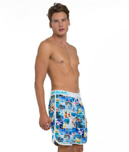 69Slam-Into-The-Blue-Medium-Length-Boardshorts-Size-38-Beach-Surf-Swim-Short