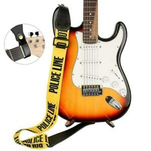 Einstellbarer-Polyester-Gitarrengurt-mit-PU-Lederenden-fuer-E-Bass-Useful