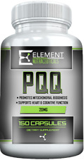 PQQ (150 Ct X 20 Mg) Pyrroloquinoline Quinone by Element Nutraceuticals