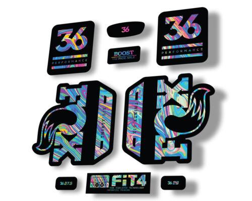 FOX 36 Float 2020 Performance Fork Suspension Factory Decal Sticker Oil Slick 1