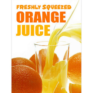 Freshly Squeezed ORANGE JUICE POSTER (24x32) inches