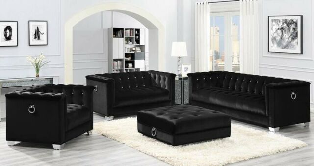 Stupendous Coaster Fine Furniture Chaviano Black Leatherette Sofa And Loveseat Gamerscity Chair Design For Home Gamerscityorg