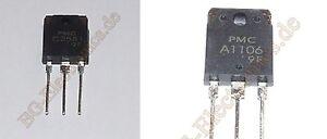 2 x 2SC2581 & 2SA1106 2 Paare 2 pair 4 Transistoren NPN Power  PMC TO-218A 4pcs