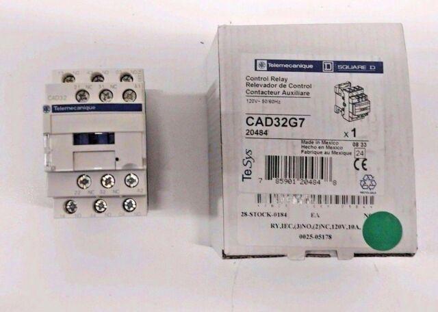 Telemecanique CAD50G7 Control Relay 120V 50//60Hz NEW