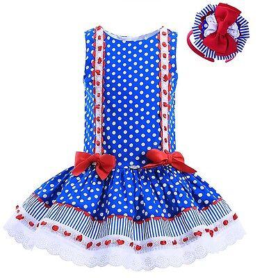 Baby Girls Polka Dot Tutu Dress Headband Set Princess Party Pageant Skater Skirt