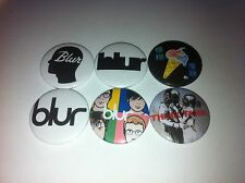 6 Blur Button badges 25mm Country House Girls and Boys Park Life Think Tank