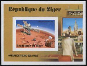 Space-Raumfahrt-1977-Niger-Viking-Block-16-Epreuve-Deluxe-Cardboard-MNH-1214