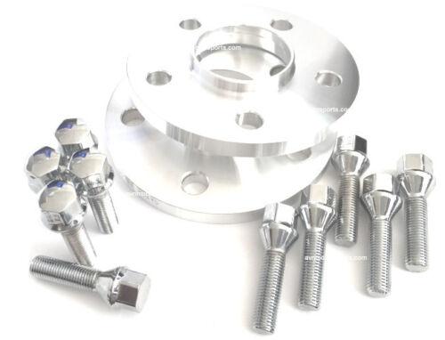 2 17mm Hub Centric Wheel Spacers 5x112 Mercedes 14x1.5 Chrome Lug Bolts 5 x 112