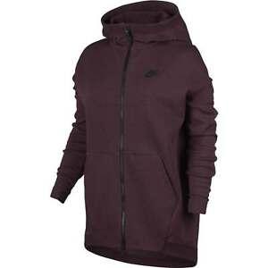 cappuccio 681 Nike Cape con maroon Cosy 811710 Fashion Tech da Felpa Fleece donna PqwREnE5