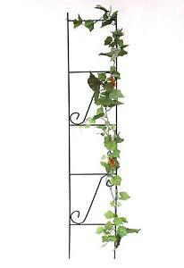 support pour plantes grimpantes treillis treillage en m tal 150 cm vert ebay. Black Bedroom Furniture Sets. Home Design Ideas