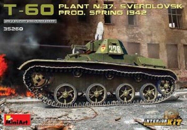 Miniart 1:3 5 Scala - T-60 (Pianta 37 Sverdlovsk) Prod 1942 Int Kit MIN35260