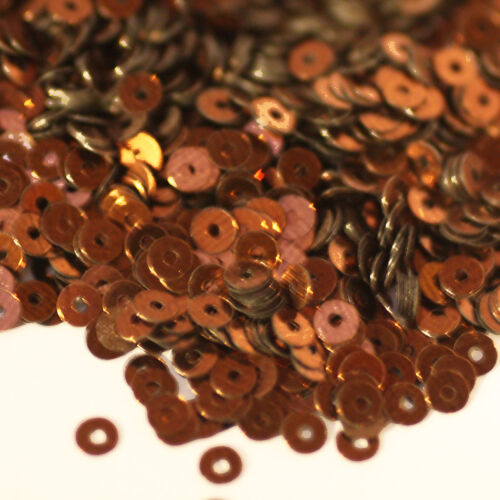 3mm Flat SEQUIN PAILLETTES BRONZE Premium Metallic Made in USA.