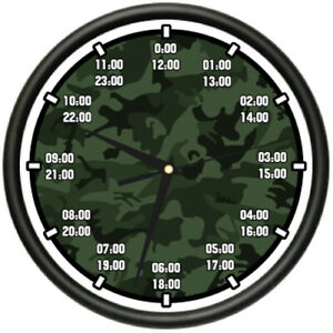 Military Time Clock >> Details About Military Time Wall Clock Army Navy Marine Air Force Time Timing Gift