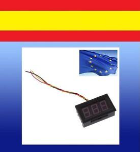 Mini-test-VOLTIMETRO-medidor-panel-voltaje-DIGITAL-DC-0-100V-coche-moto-3-cables
