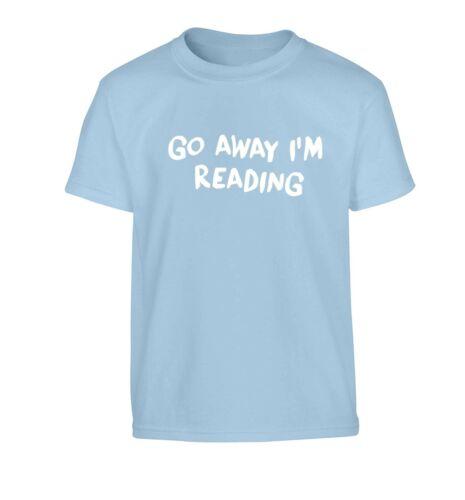 I/'m reading kid/'s t-shirt geek literary books fictional fantasy reader joke 748