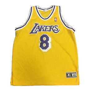 Details about VTG STARTER LOS ANGELES LAKERS KOBE BRYANT YELLOW JERSEY 48 XL NBA BLACK MAMBA 8