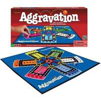 Classic Aggravation Board Game (vtg Style 1989 Artwork) Race Marbles 2-6 Players