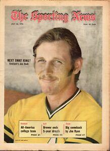 Sporting-News-7-22-1972-Baseball-magazine-Joe-Rudi-Oakland-Athletics-Good