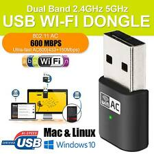600 Mbps Adaptador USB Wifi Micro De Banda Dual 802.11ac.2.4ghz 5.8Ghz LAN Dongle UK