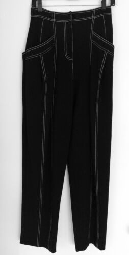 Derek Lim Paneled Crepe Black crepe Pants White De
