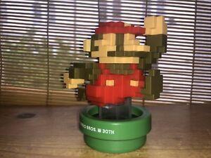 Amiibo Mario Figure Super Mario Bros 30th Anniversary Nintendo Pixels 8 Bit