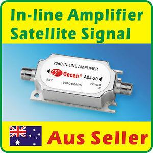 Satellite-Signal-20-dB-In-line-Amplifier-950-2150Mhz-Aus-Seller