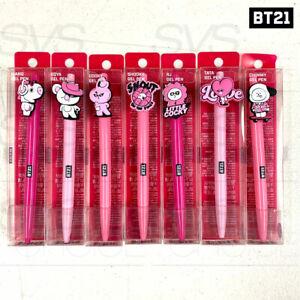 BTS-BT21-Official-Authentic-Goods-Gel-Pen-Music-Ver-7SET-By-LINE-FRIENDS