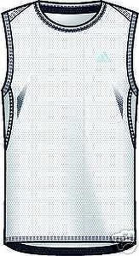 Adidas Supernova Sleeveless Dress Shirt Muscle Shirt M White 687775