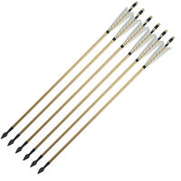 Chinese White Shield Medieval Archery Wooden Arrows Shaft Hunting Arrowheads