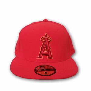 986077d31ba Image is loading Anaheim-Angels-Red-Color-New-Era-59Fifty-Size-
