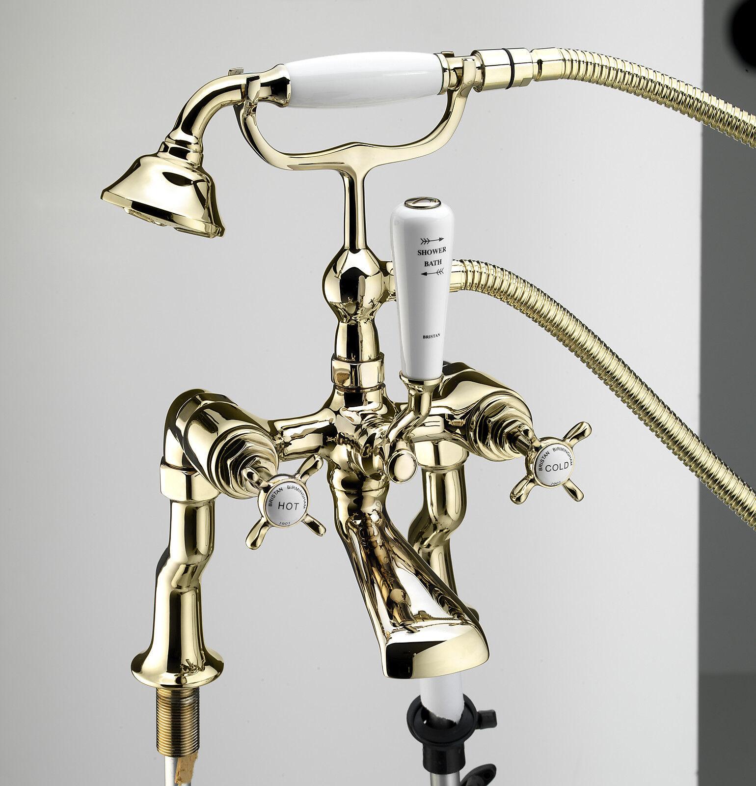Bristan 1901 Rubinetti Tradizionali Miscelatore lavabo bagno doccia Filler oro oro oro Bagno Set a97e8f
