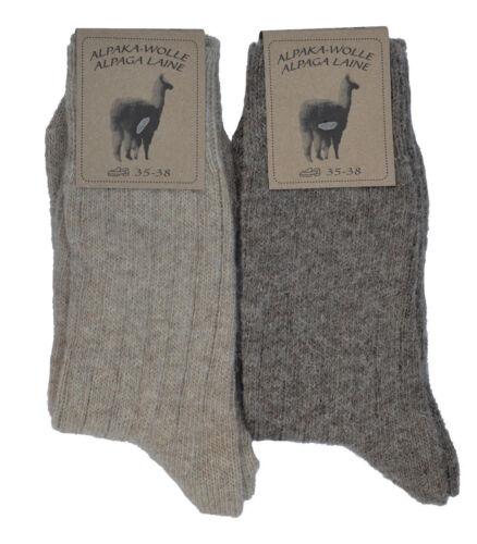 35-46 MEDIUM 2 PAAR Wollsocken Alpakasocken Schafwollsocken 99/% Wolle Gr