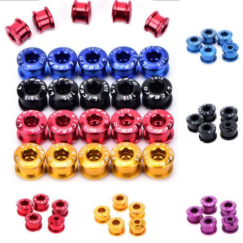 5PCS Bike Chainring Bolts Single//Double//Triple Speed Chain ring Scre/_za