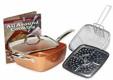 Copper Chef 4-Piece Deep 9.5-Inch Square Pan Set As seen on TV  Tristar Steamer