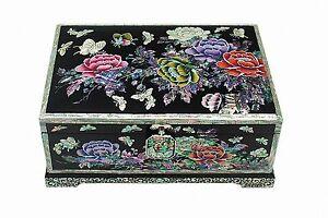 Mother-of-pearl-wood-trinket-jewelry-box-jewel-case-organizer-peony-flower