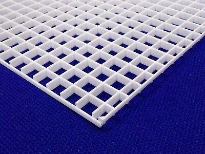 "2 PACK 1//2/"" 12mm White Grid Divider Egg Crate Louvre 8x12/"" Aquarium/&Lighting"